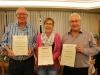 Ehrenmitglieder, v.l. Fischer Sidy, Vogel Gaby, Knuchel Urs